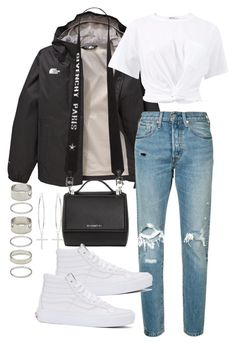 """""""Untitled #2441"""" by mariie00h ❤ liked on Polyvore featuring The North Face, Levi's, Givenchy, Vans, T By Alexander Wang, Forever 21 and Kiki Minchin"""