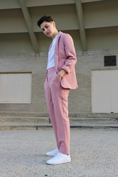 100 Most Stylish dapperQs 2018 - dapperQ Prom Outfits, Dinner Outfits, Tomboy Outfits, Converse Outfits, Girl Outfits, Queer Fashion, Tomboy Fashion, Fashion Outfits, Fashion Styles