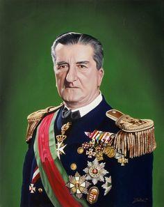 Vitéz nagybányai Horthy Miklós, a Magyar Királyság kormányzójának portréja 40 x 50 cm-es olajfestmény