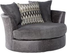 Skyline Drive Gray Swivel Chair