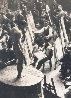 L'atelier Bonnat vers 1900.