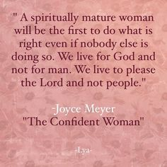 I am a Confident Woman.......I Live for God