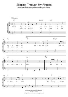 Nouvelle partition piano sur Modern Score !    ABBA: Slipping Through My Fingers - Partition Piano Facile    #sheetmusic #piano #Abba