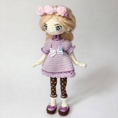 Вяжем! Творим! Чудим! Crochet Doll Clothes, Knitted Dolls, Crochet Dolls, Cute Crochet, Knit Crochet, Pretty Dolls, Amigurumi Doll, Handmade Toys, Kids Toys