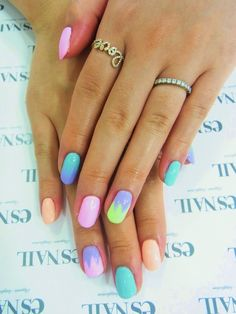 multicoloured brights summer nails...x