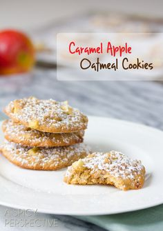 "Yummm. Can't wait to make these! // ""Caramel Apple Oatmeal Cookies"" 