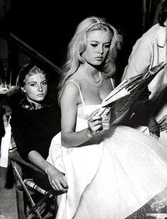Brigitte Bardot and her sister, Mijanou.