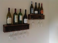 Free Shipping - Floating wine racks ( set of 2 )