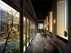 Enclosed courtyard garden inside world's most expensive 1 bedroom apartment condo @ Minami Azabu