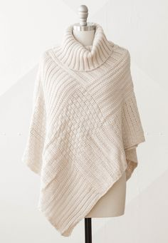 Cypress Knit Poncho - warm and snuggly.