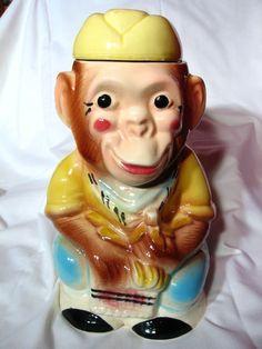 Robinson Ransbottom Jocko Monkey Cookie Jar~