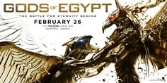 Gods of Egypt will Release on Friday, February 26, 2016. Director: Alex Proyas