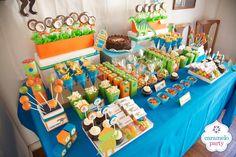 Caramelo Party: Cumpleaños de Dinosaurios y Robots