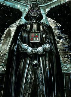 Darth Vader Pre-show commission. inks and watercolors on paper.