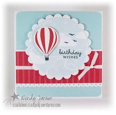 Guy Birthday card. Hot Air Balloon, 051912 2