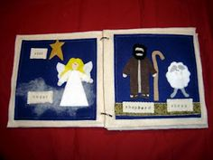 Bible story - Nativity Quiet Book Idea