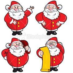 Four Santa's Royalty Free Stock Vector Art Illustration Christmas Cartoon Pictures, Christmas Cartoons, Free Vector Art, Royalty, Santa, Comics, Illustration, Royals, Illustrations