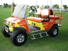 A Performance Custom Golf Cart w/a really Fun Paint Job~