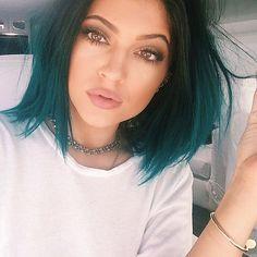 Kylie Jenner's blue-green bob