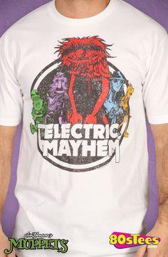 Vintage Electric Mayhem T-Shirt: Muppets Mens T-shirt