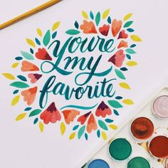 Watercolor Typography Collection by Jessica Elliott