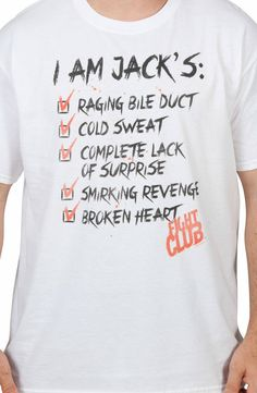 I Am Jacks Fight Club Shirt: Fight Club Mens T-shirt