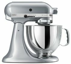 Amazon.com: KitchenAid KSM150PSMC Artisan Series 5-Quart Mixer, Metallic Chrome: Home & Kitchen