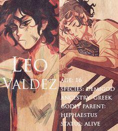 Leo Valdez status:alive!! Let's keep his status alive por favor!