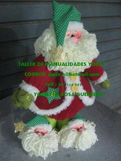 Noel recién levantado Christmas Sewing, Vintage Christmas Cards, Christmas Projects, Christmas Holidays, Christmas Decorations, Christmas Ornaments, Holiday Decor, Rainy Day Crafts, Soft Sculpture