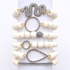 diamond stacking bracelets - Gold & Gray