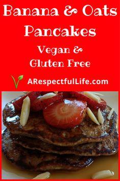 Gluten Free Banana & Oats Pancakes
