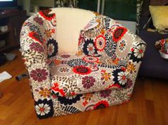 DIY Ikea Tullsta Hack - Upholster your Tullsta with ease! Video link