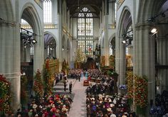 The New Church Amsterdam on the Inauguration Day of King Willem Alexander and Queen Maxima