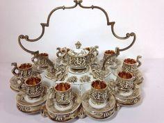 Capodimonte Porcelain Demitasse Tea Service  #Capidomonte