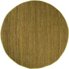 Surya COT1936 Continental Yellow Round Area Rug