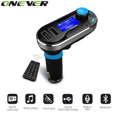 Onever Bluetooth Car Kit MP3 Player Handsfree Wireless FM Transmitter Radio Adapter USB Charger LCD Display with Remote Control