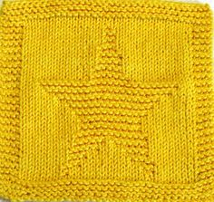 Knitting pattern for Star Cloth - Knit in cotton worsted yarn with just knit and purl stitches, the cloth measures 7″W X 7 1/4″ H(18cn X 18.5 cm)