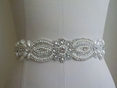 SALE  18 INCHES Long Wedding Belt Bridal by LucyBridalBoutique. I BOUGHT MINE HERE. AMAZING CUSTOMER SERVICE! GREAT QUALITY