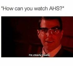 I love to watch American Horror Story, even though that show is crazy. Series Movies, Movies And Tv Shows, Watch Movies, American Horror Story Memes, Ahs Asylum, Horror Show, Evan Peters, Film Serie, The Villain
