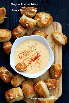 Vegan Pretzel Bites With Spicy Mustard Dip - 9 Vegan Recipes Perfect for Super Bowl Sunday - ChooseVeg.com