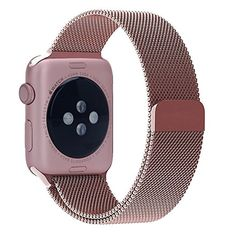 Amazon.com: Pandawell Apple Watch Band, Milanese Loop Rose Gold Stainless Steel Replacement Watchband Strap Wrist Band with Adapter for 42mm Apple Watch & Sport & Edition – Rose Gold: Cell Phones & Accessories