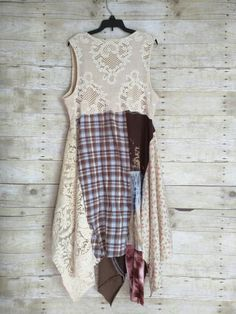 Sunshine Shabby layer upcycled lagenlook lace prairie