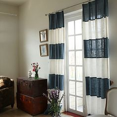 Casual Linen Eco-friendly Lined Curtains (Two Panels) – USD $ 214.99