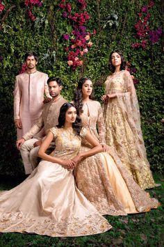 """strictly-indian-fashion: """"""""Enchanted Forest"""" by Shyamal and Bhumika (Spring/Summer """" wedding indian thegoldenboutique Indian Photoshoot, Bridal Photoshoot, Photoshoot Ideas, Pakistani Wedding Outfits, Indian Outfits, Wedding Dresses, Indian Clothes, India Fashion, Asian Fashion"""