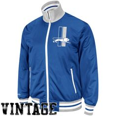 Detroit Lions Vintage Zip Jacket by Mitchell & Ness