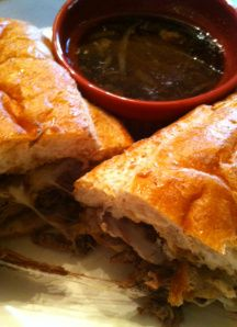 Crockpot French Dip Sandwiches - LOVED it!! BIG HIT!!! Use this!! (Use CHUCK ROAST!)