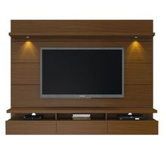 Entertainment Stands - Manhattan Comfort Cabrini 2.2 Floating Wall Theater Entertainment Center in Nut Brown | MHC-23851 | | $797.90. Buy it today at www.contemporaryfurniturewarehouse.com