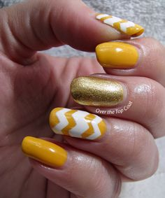 Over The Top Coat: Summer Chevrons Manicure