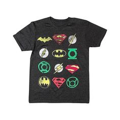 Men's  DC Comics Logo T-Shirt Charcoal, Size: Medium, Charcoal Heather (19 590 LBP) ❤ liked on Polyvore featuring men's fashion, men's clothing, charcoal heather, men's apparel and mens clothing
