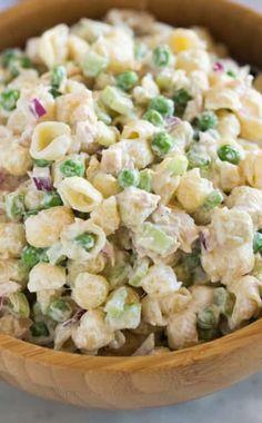 Salad this tuna pasta salad with shell Shell Pasta Salads, Pasta Salad For Kids, Salads For Kids, Pasta Dishes, Tuna Recipes, Pasta Salad Recipes, Healthy Eating Recipes, Cooking Recipes, Tuna Macaroni Salad